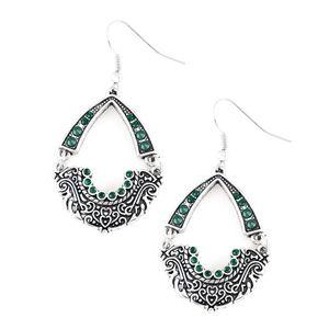 Green earrings paparazzi
